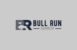 bull run search logo design