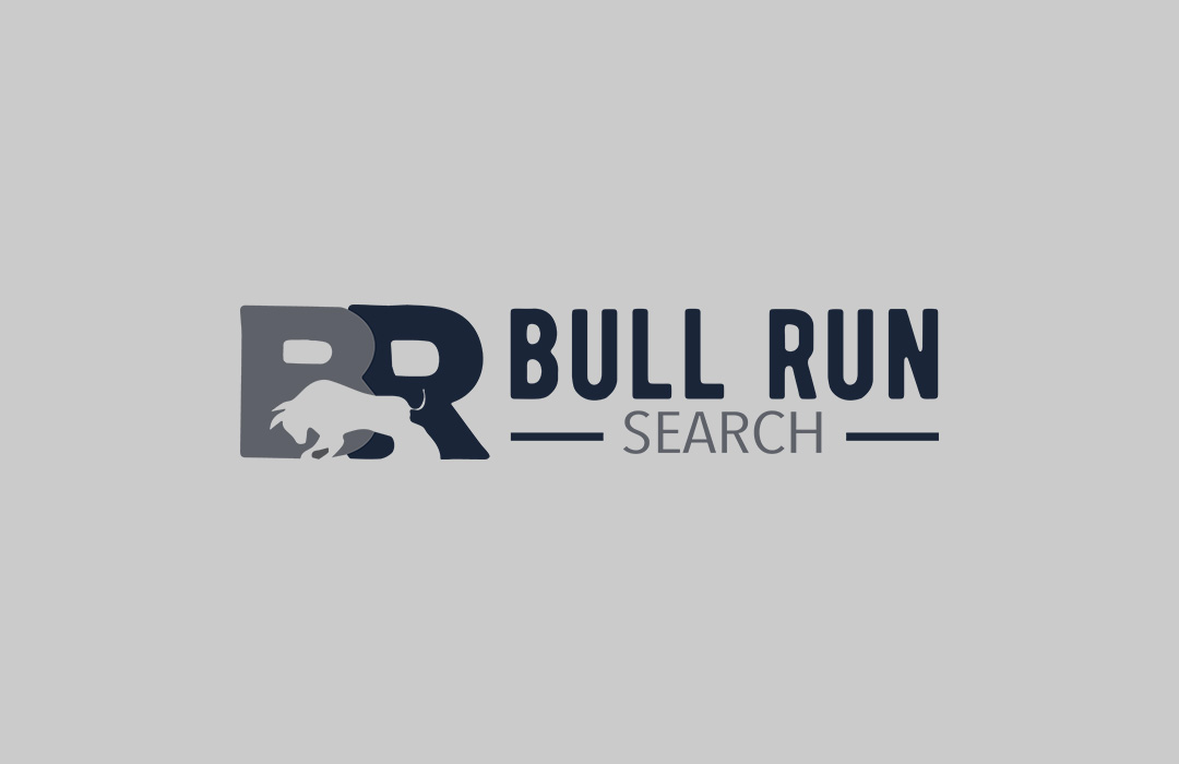 bull run search logo design