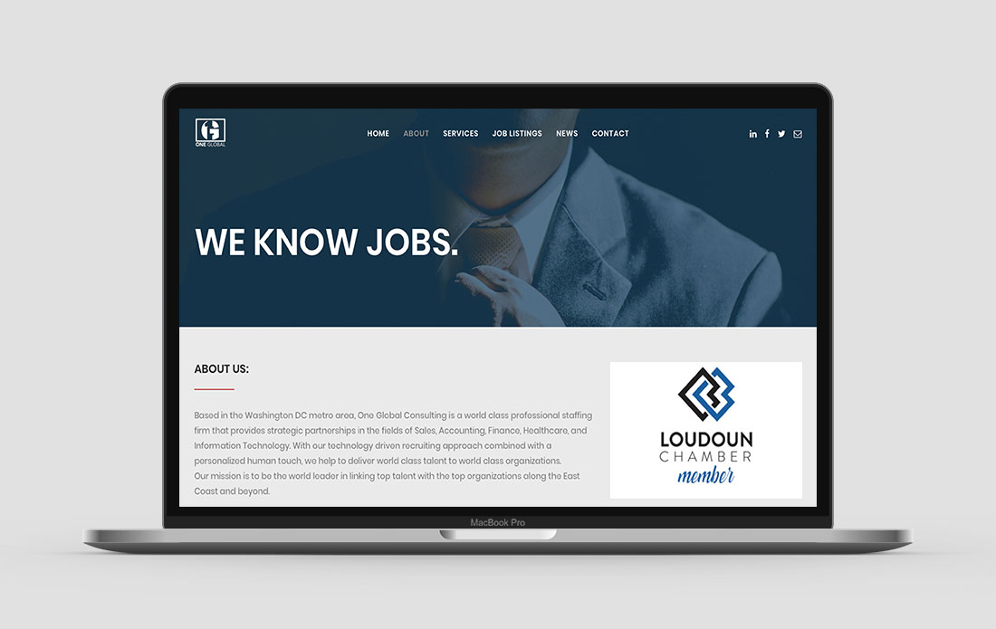 One Global Consulting Website About Page