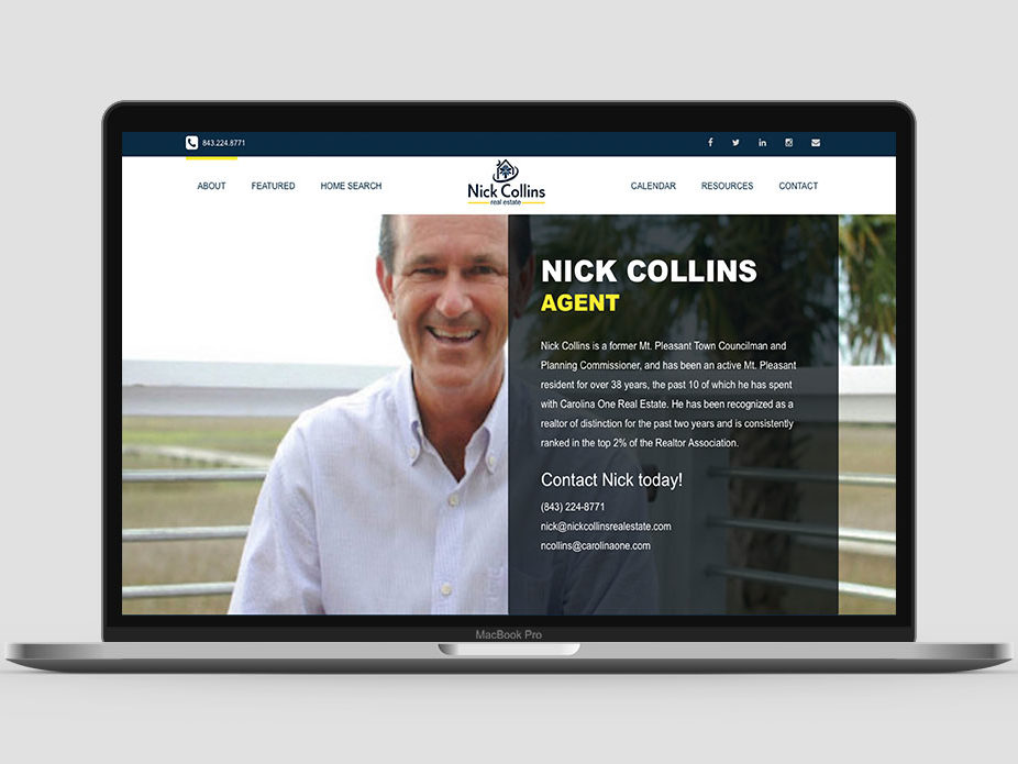 Nick Collins Website About Page