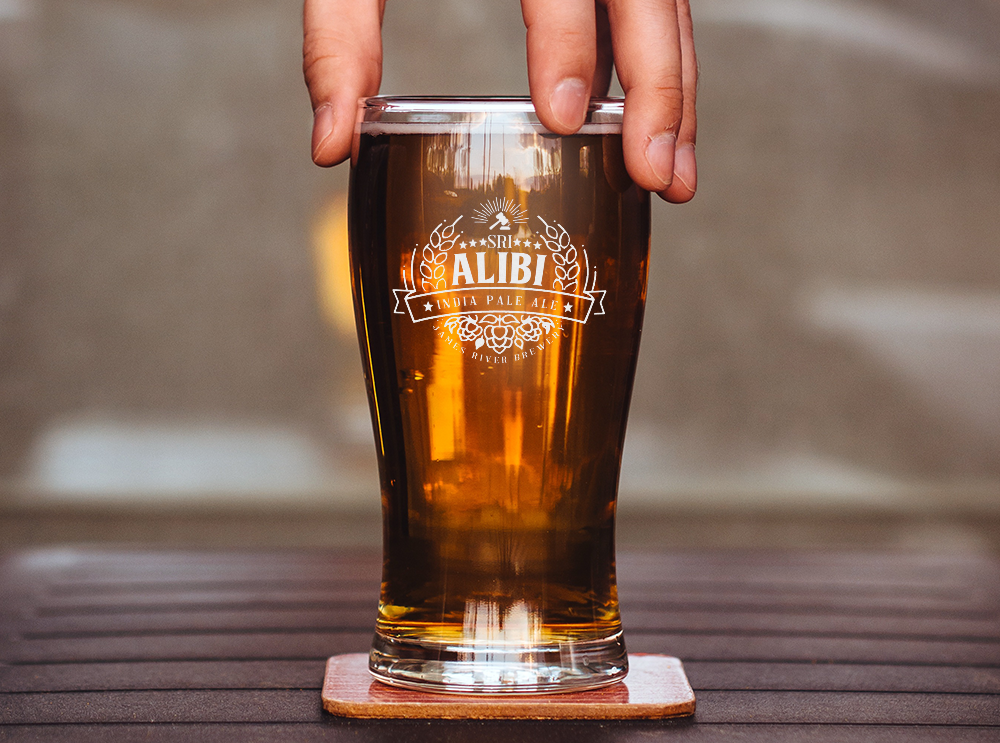 Alibi IPA beer glass