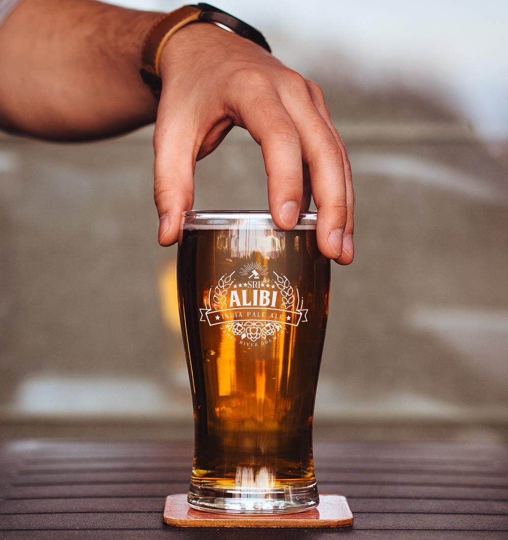 Alibi IPA beer glass