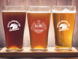 Alibi IPA beer rainbow