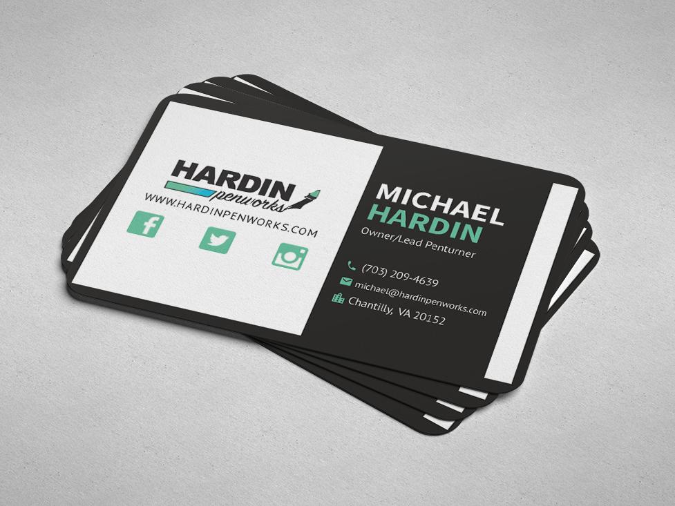 Hardin Penworks Business Cards