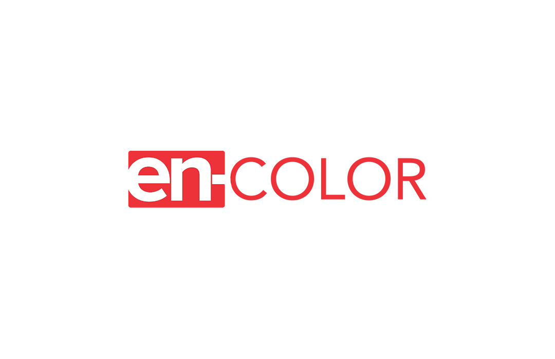 salon encolor logo design