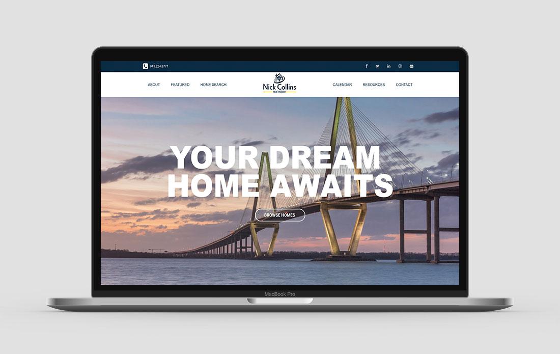 Nick Collins Website Homepage