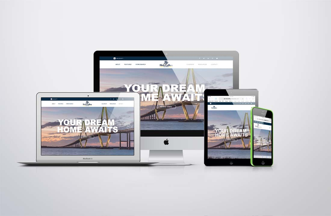 logo and website design nick collins