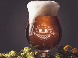 Alibi IPA with hops