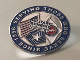 Military Benefit Association National Guard Pin Design