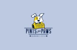 pints for paws logo design