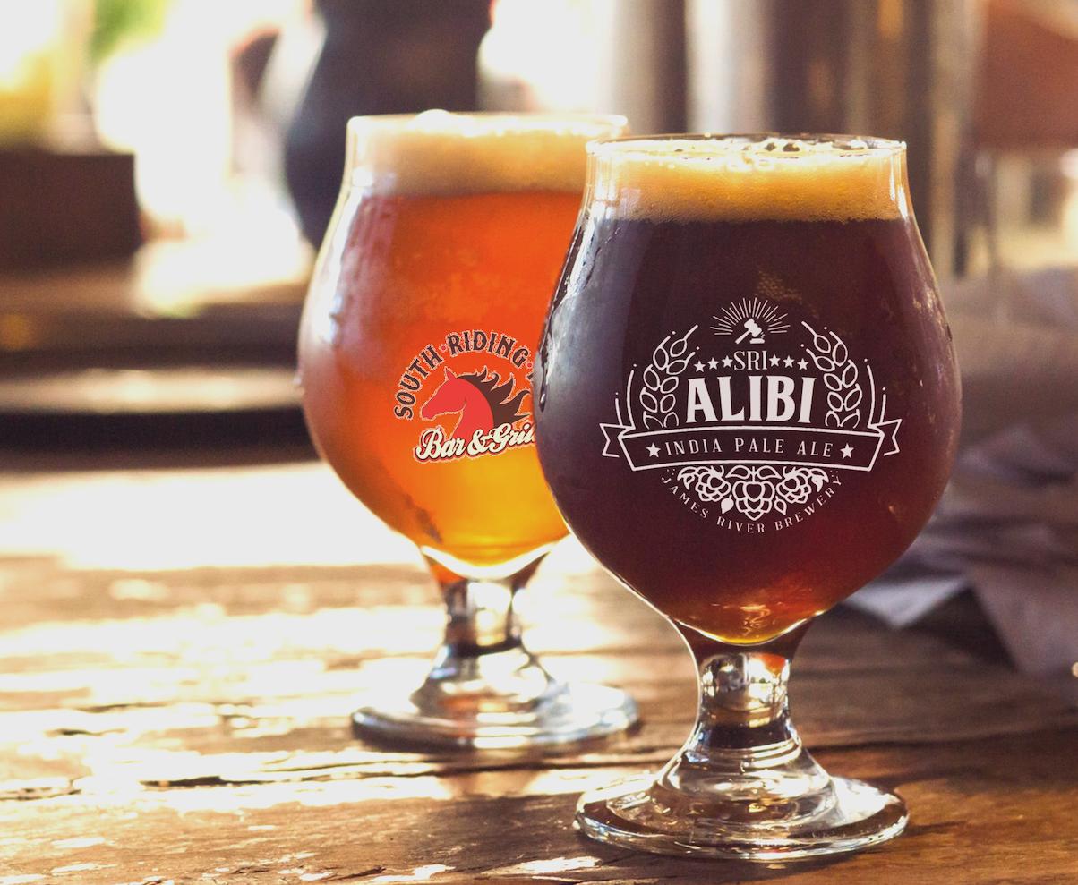 Alibi IPA beer logo