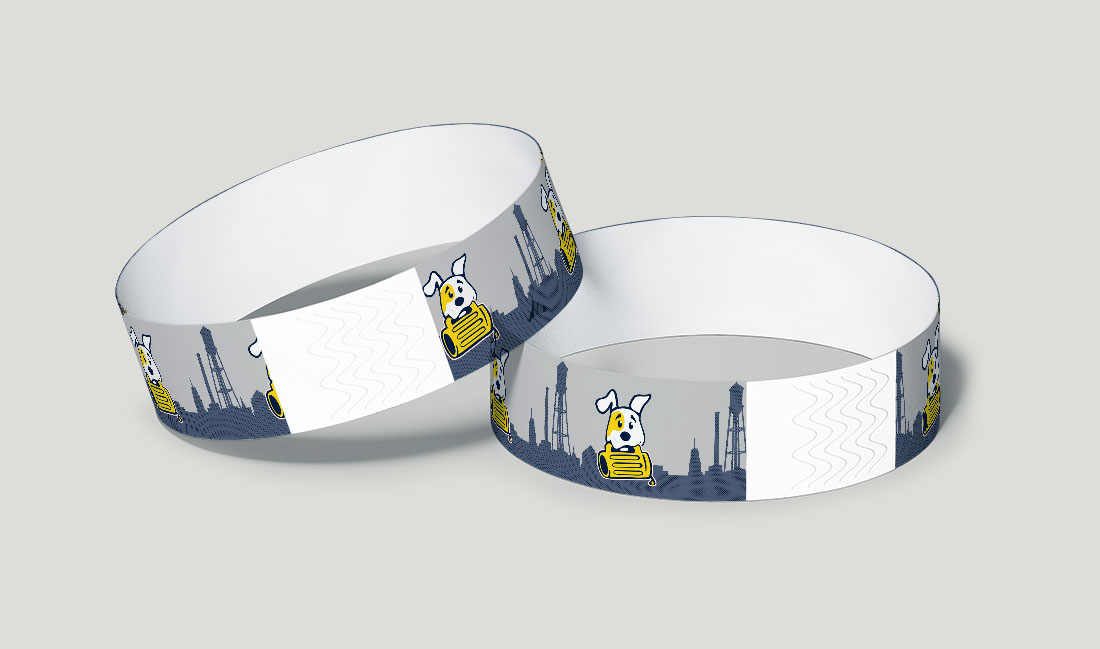 pints for paws event wristband
