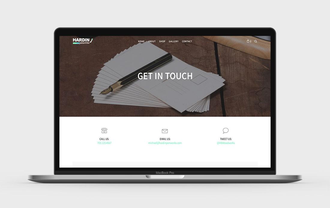 Hardin Penworks Website Contact