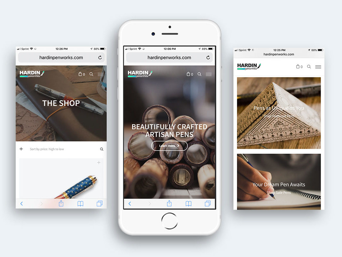 Hardin Penworks Mobile Website