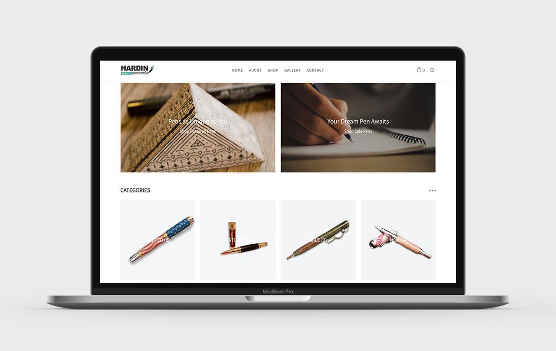 Hardin Penworks Website About Page