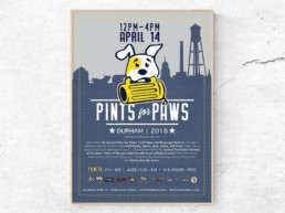 pints for paws wall poster