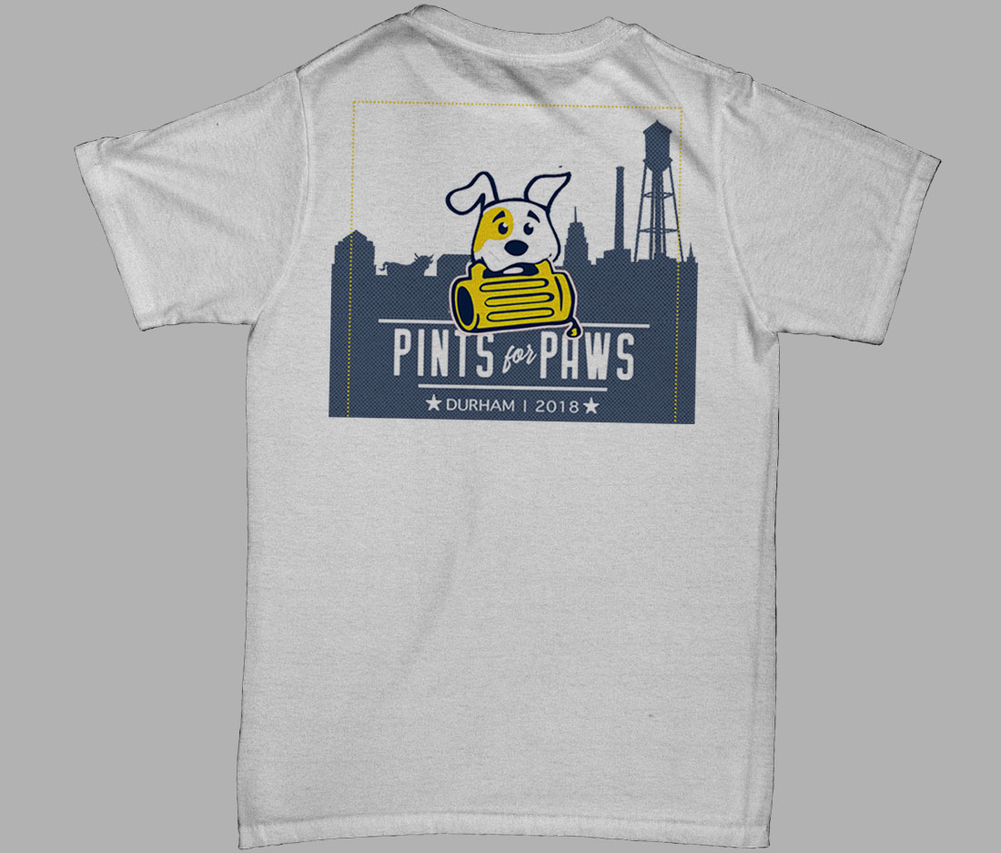 pints for paws shirt back