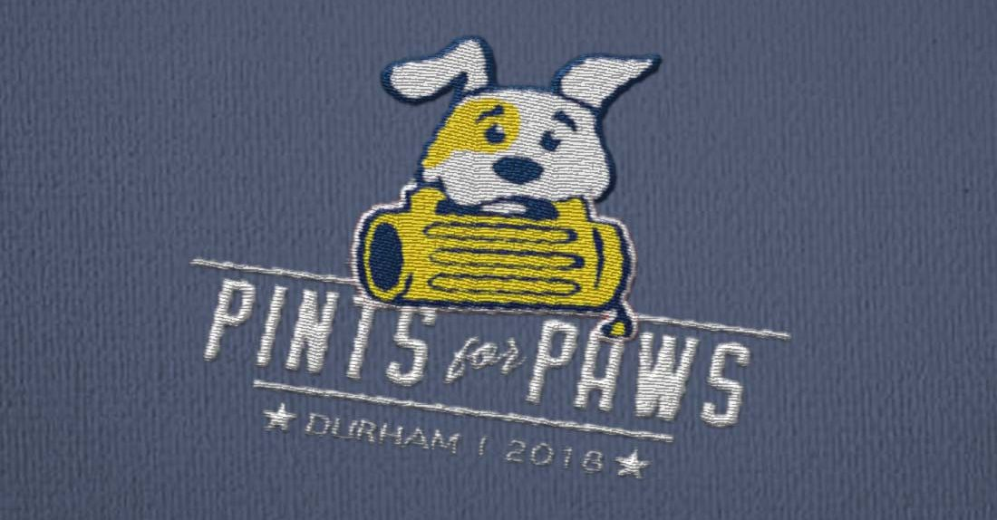 shirt logo pints for paws
