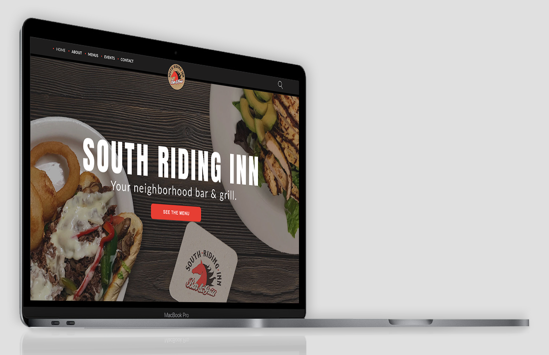 website redesign homepage south riding inn