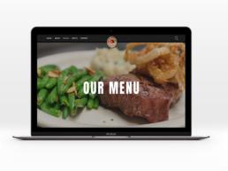 website redesign south riding inn menu page