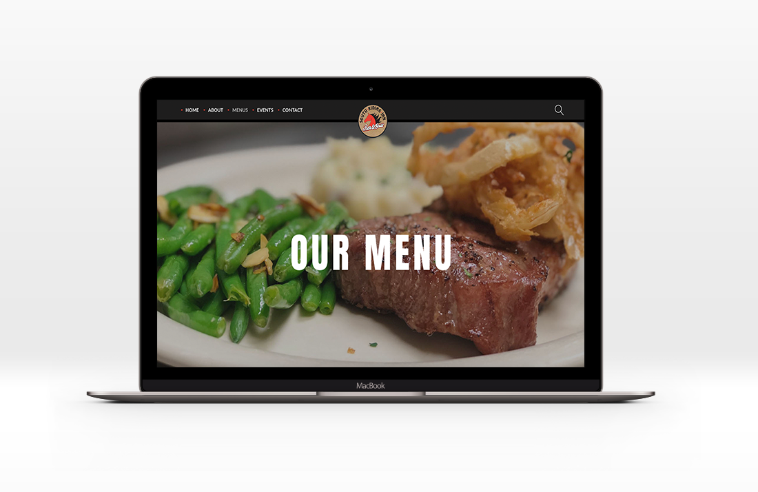 website redesign south riding inn menu page