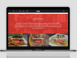 website redesign SRI about page