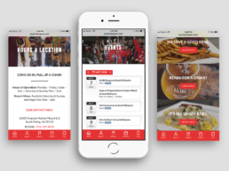 website redesign mobile south riding inn