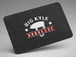big Kyle bbq business card