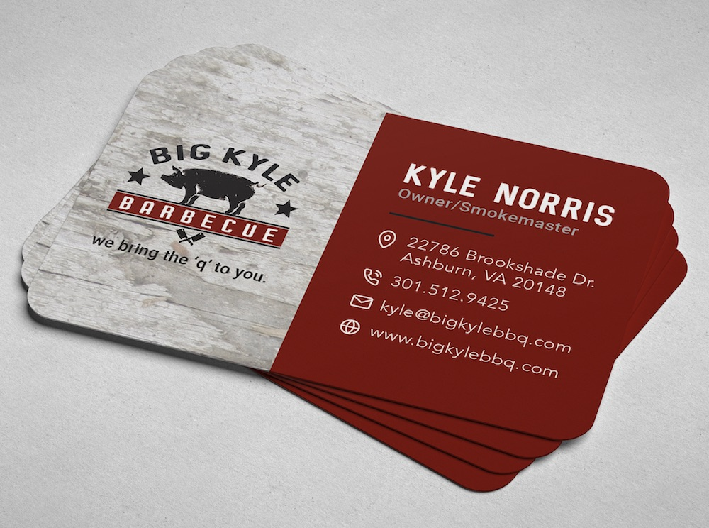 big Kyle bbq business cards