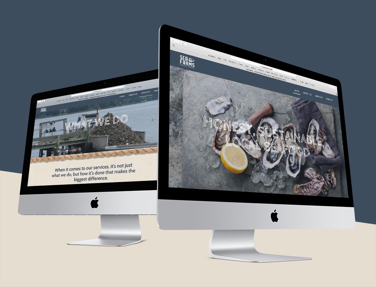 sea farms brand identity web design