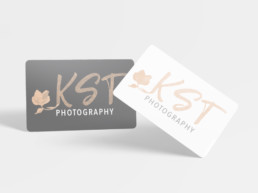 KST logo business cards