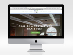 website design Gibbs painting homepage